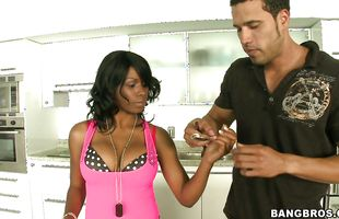 Pungent barely legal brunette Kiki Armani and bf are rubbing each other