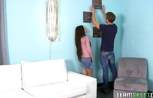 Angelic teen Lacie Channing gets hammered by horny buddy